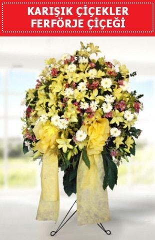 Karışık mevsim çiçeklerinden ferförje  Polatlı internetten çiçek satışı