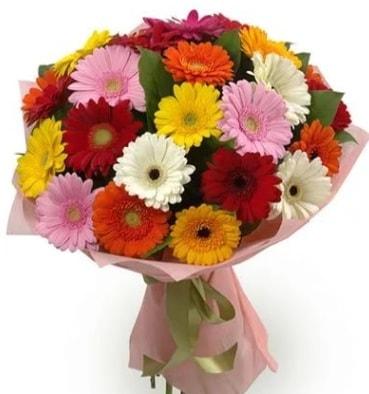 Karışık büyük boy gerbera çiçek buketi  Polatlı çiçek satışı