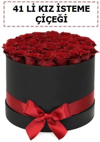 41 li kız isteme kutuda çiçek  ucuz çiçek gönder