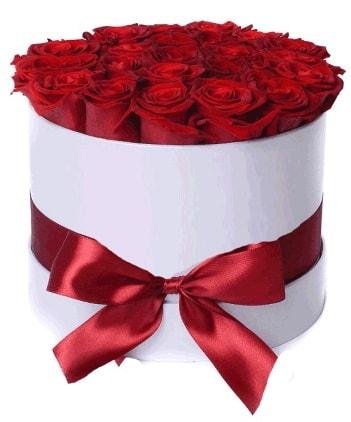 29 adet kırmızı gülden kutu çiçeği  Polatlıda çiçekçi güvenli kaliteli hızlı çiçek