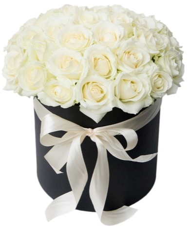 41 adet özel kutuda beyaz gül  Polatlı çiçek satışı  süper görüntü