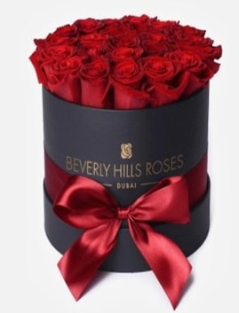 Siyah kutuda 25 adet kırmızı gül tanzimi  Ankara Polatlı İnternetten çiçek siparişi
