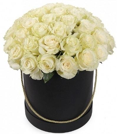 33 adet beyaz gül özel kutuda isteme çiçeği  Polatlı internetten çiçek satışı
