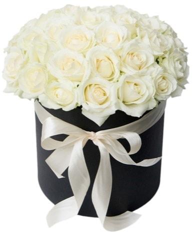 41 adet beyaz gül kutuda söz  Polatlı çiçek satışı  süper görüntü