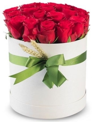 25 adet özel kutuda kırmızı gül  cicekciler , cicek siparisi  söz çiçekler